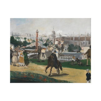 Edouard Manet - View of the Universal Exhibition Canvas Print