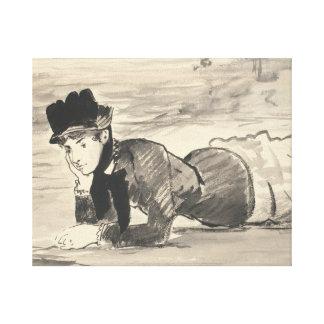 Edouard Manet - Woman Lying on the Beach Canvas Print