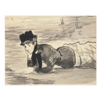 Edouard Manet - Woman Lying on the Beach Postcard