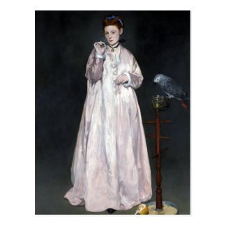 Édouard Manet Young Lady in 1866 Postcard