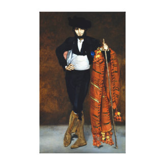 Édouard Manet Young Man in the Costume of a Majo Canvas Print