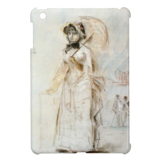 Edouard Manet-Young woman walking with umbrella iPad Mini Cases