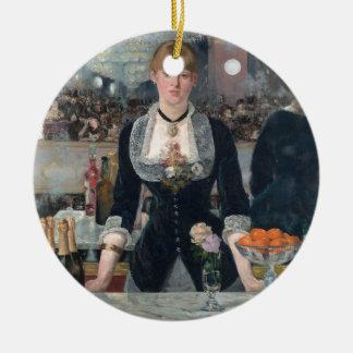 Edouard Manet's A Bar at the Folies-Bergère Ceramic Ornament