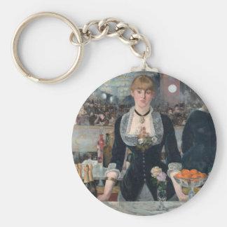 Edouard Manet's A Bar at the Folies-Bergère Keychain