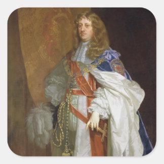 Edouard Montagu, ęr comte du sandwich, c.1660-65 Autocollant Carré