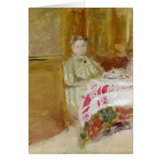 Edouard Vuillard- Madame Vuillard at Table Card