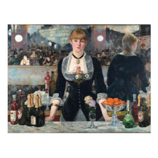 EDOUART MANET - A bar at the Folies-Bergere 1882 Postcard