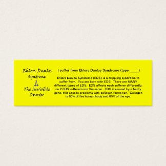 EDS Awareness - Skinny Mini Business Card