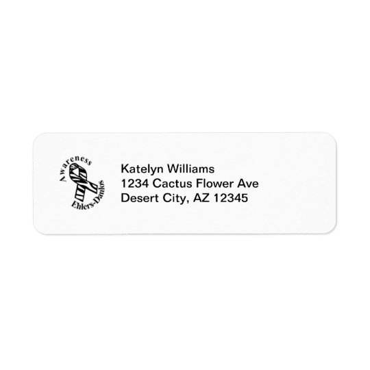EDS Awareness Zebra Ribbon Address Avery Label