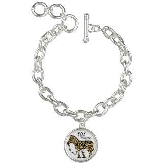 EDS Hope Zebra Charm Bracelet