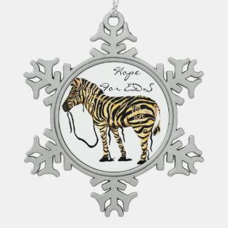 EDS Snowflake Zebra Ornament