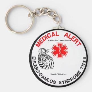 EDS Type 2 Medical Alert with Zebra Keychain