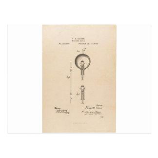Edson's Light Bulb Patent Postcard