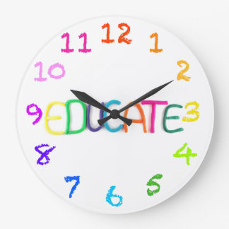 Educate in Clay with Chalk Numbers Wall Clock