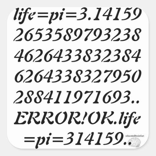 educatedbrainfart pi Sticker