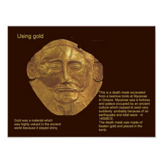 Education, Ancient History, Mycenaean Gold Poster