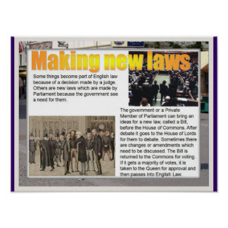 Education, Citizenship Making new laws Poster