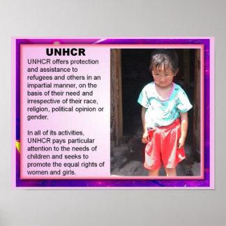 Education, Citizenship, Refugees, UNHCR Poster