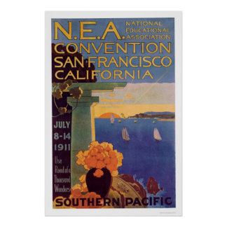 Education Convention San Francisco 1911 Poster