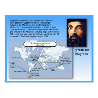 Education, History, Ferdinand Magellan voyages Postcard