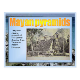 Education, History,  Mayan pyramids Postcard