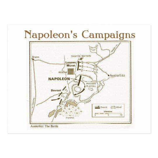 Education, History, Napoleon, Austerlitz Battle Postcard