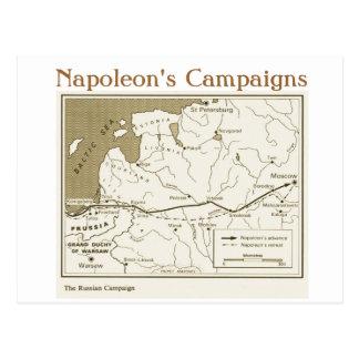 Education, History,  Napoleon, Russian Campaign Postcard