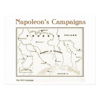 Education, History, Napoleon, The 1813  Campaign Postcard