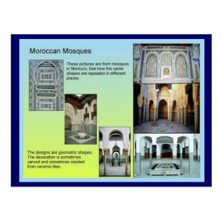 Education, History, Rise of Islam, Moroccan mosque Postcard