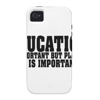 Education Is Important Bass Player Black Text iPhone 4/4S Cover