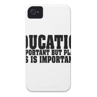 Education Is Important Bass Player Black Text iPhone 4 Case-Mate Case
