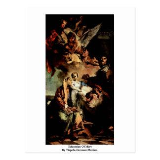 Education Of Mary By Tiepolo Giovanni Battista Postcard