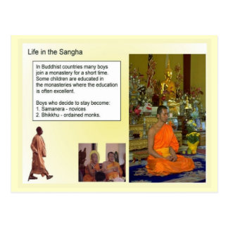 Education, Religion, Buddhism, Life in the Sangha Postcard