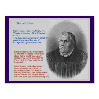 Education, Religion, History, Martin Luther Poster