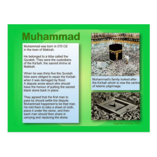 Education, Religion, Islam, Muhammad Postcard