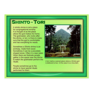 Education, Religion, Japanese Tori Postcard