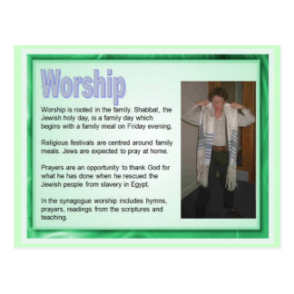 Education,  Religion,  Judaism, Jewish worship Postcard