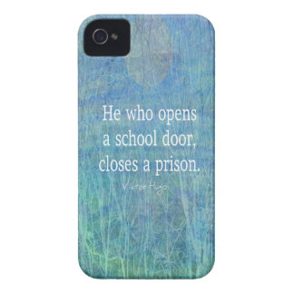 Education teacher teaching quote Victor Hugo iPhone 4 Case