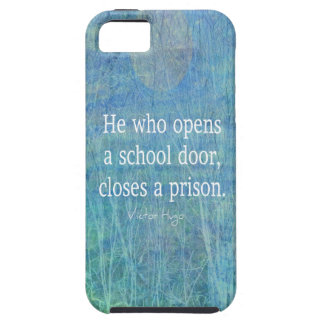 Education teacher teaching quote Victor Hugo iPhone 5 Cases