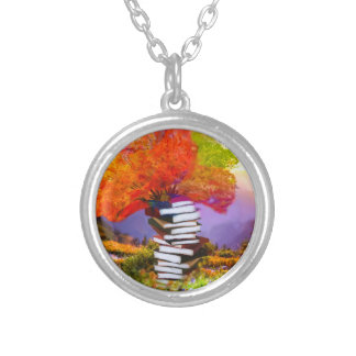 Education will always be the basis of any success silver plated necklace
