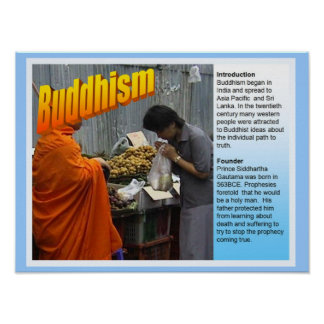 Education, World Religions, Buddhism Fact File Poster