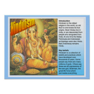 Education, World Religions, Hinduism Fact File Poster
