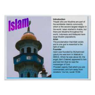 Education, World Religions, Islam Fact File Poster