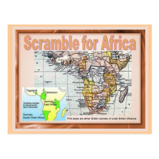 Education, World War I, Scramble for Africa Postcard