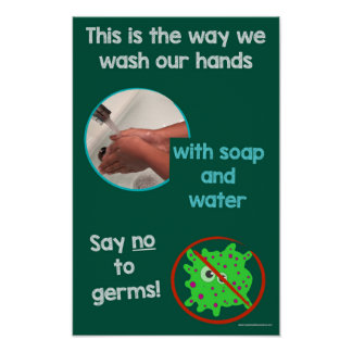 Educational Hand-wshing Safety Information Poster