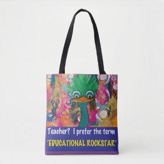 Educational Rockstar Tote Bag