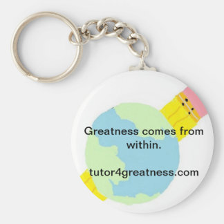 edulogo, Greatness comes from within.tutor4grea... Basic Round Button Keychain