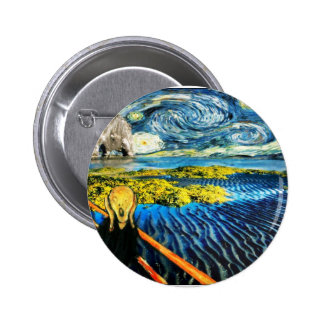 Edvard Meets Vincent 2 Inch Round Button