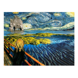 Edvard Meets Vincent Postcard