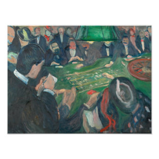 Edvard Munch - At the Roulette Table Photograph